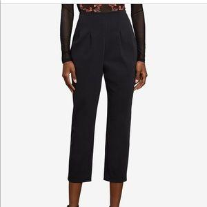NWT BCBGMAXAZRIA black pleat crop pants orig $178